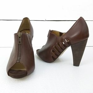 Seychelles NEW brown peep toe caged heels size 7